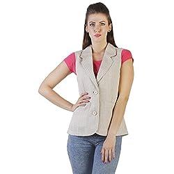 Ladybug Women Striped Linen Waistcoat