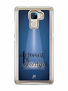 YuBingo Different is Beautiful Designer Mobile Case Back Cover for Huawei Honor 7
