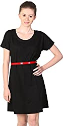 Unimod Women's Plain Dress (Black, S)