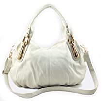 Hobo Shoulder Handbag (White)