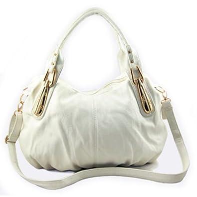Hobo Shoulder Handbag (White)