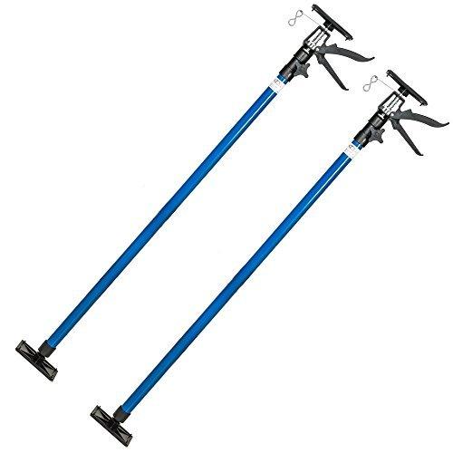 tectake-set-of-2-drywall-plasterboard-builders-ceiling-easy-props-adjustable-115-290cm