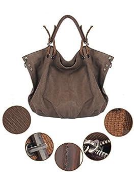 Winkine Vintage Hobo Canvas Tote Bags - Designer Inspired Satchel Handbags / Shoulder Bag - Large Size 2