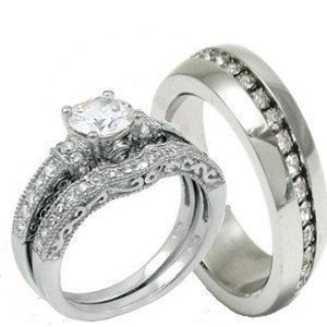 Amazon.com: His & Hers 3 Pieces, 925 Sterling Silver