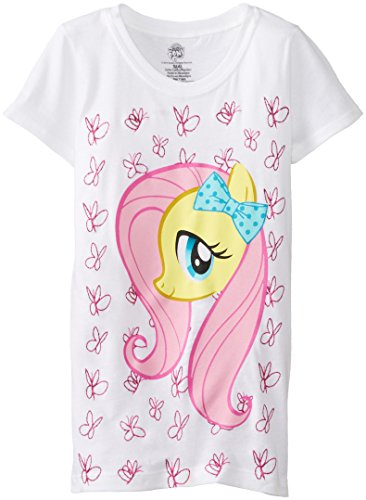 My Little Pony Little Girls' Girls Tee, White, Large (6X) - 1
