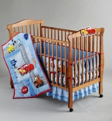 Elegant Disney Cars Little Racer piece Crib Bedding Set Pieces