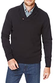 Blue Harbour Pure Cotton Shawl Collar Jumper [T30-5184B-S]