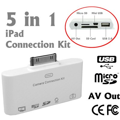 5 in 1 Camera Connection Kit, AV to TV Audio/Video