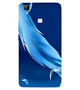 ColourCraft Lovely Feathers Design Back Case Cover for VIVO V3 MAX