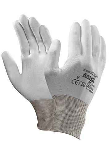 Ansell SensiLite 48-100 Guanti per usi multipli, protezione meccanico, colore: bianco (Confezione da 12 paia), 11, Bianco, 12
