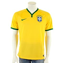 2014-15 Brazil Home World Cup Football Shirt by Nike