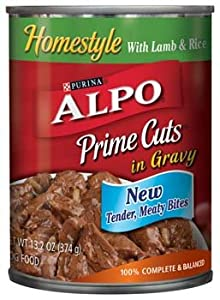 Alpo Prime Cuts in Gravy Homestyle with Lamb & Rice Dog Food 13.2 oz
