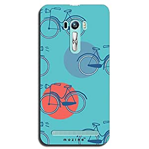 Mozine Cycle Pattern Printed Mobile Back Cover For Asus Zenphone Selfie