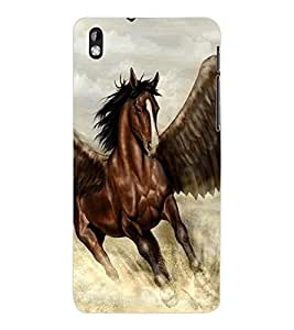 ColourCraft Flying Horse Design Back Case Cover for HTC DESIRE 816
