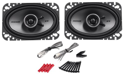 "Pair Of Kicker 41Ksc464 4"" X 6"" Ks-Series 2-Way Car Speakers With Poly-Switch To Offer Protection From Excessive Power Or Distortion - 150 Watts Peak/75 Watts Rms Each Speaker"