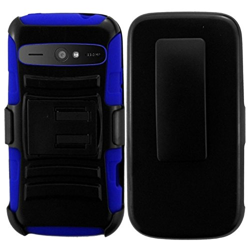ZTE Warp Sync Case, Insten Side Stand Cover Case With Holster compatible with ZTE WARP SYNC N9515, Black/Blue (Zte Warp Sync Phone Accessories compare prices)
