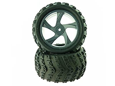 Redcat Racing 23626B+28662 Tire and Rim for Monster Truck (2 Piece)