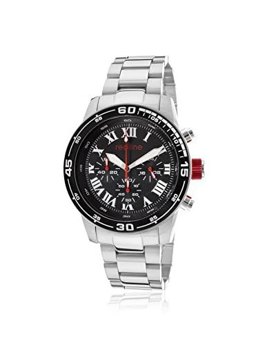 Red Line Men's 60043 Silver-Tone/Black Stainless Steel Watch