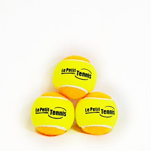 Le Petit Tennis - Pk3 Orange-Yellow (Stage 2) Tennis Balls for Kids - (For 60ft Court) - 1