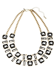 M&S Collection Sparkle Glass Double Row Necklace