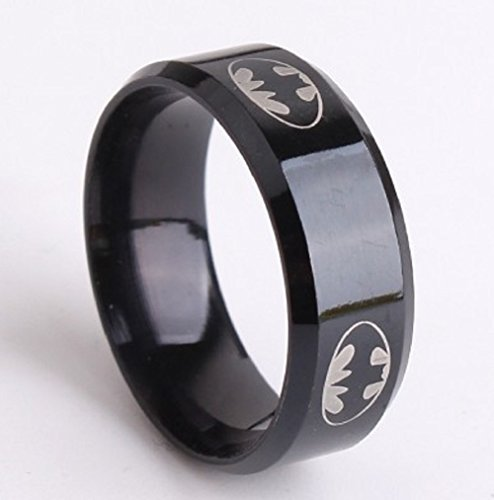 Batman Classic Logo Stainless Steel Ring (10)