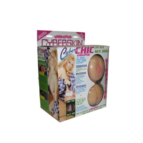 TLC CyberSkin Vibrating Cyber Chic Sex Doll, Natural