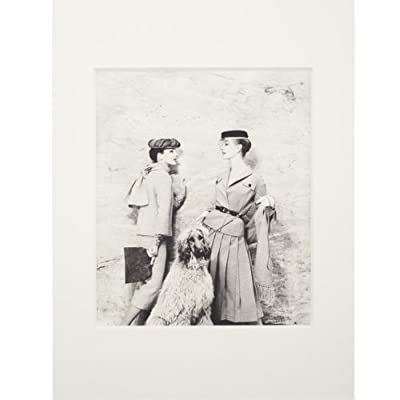 Ladies with Afghan Hound - Vogue (Mounted Print)||EVAEX