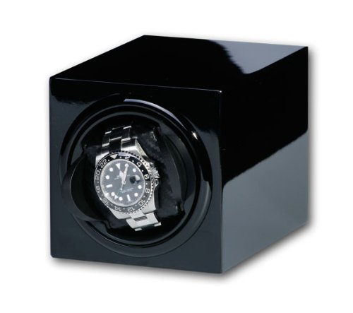 R.U.Braun Unisex Watch Winder 1002369 Brick for 1 Watch High-gloss Black