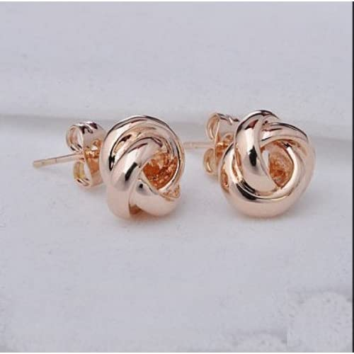 Lily Jewelry Fashion Cute Rose Gold Bling bling Stud Earings for Women Designer earrings
