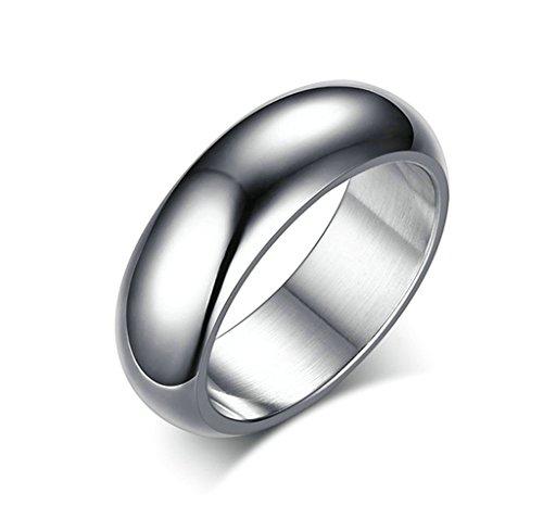 Daesar Anelli Acciaio Inossidabile Anelli Acciaio Inossidabile Argento Plain Anello Di Fidanzamento Anello Dimensioni:17
