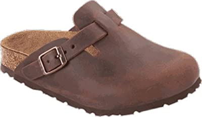 Birkenstock Clogs ''Boston'' from Leather in Habana with a regular insole