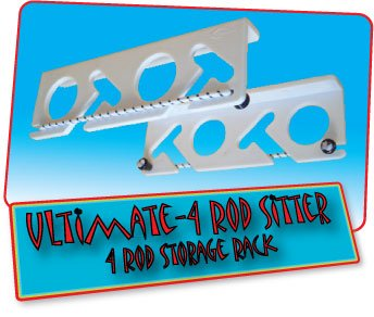 Ultimate 4 Rod Sitter - 4 Rod Fishing Rod Storage Rack (Fishing Push Pole compare prices)