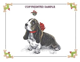 Basset Hound - Christmas Design by Cindy Farmer