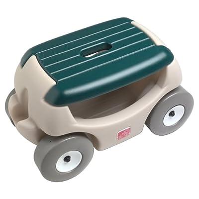 Amazon Com Step2 Garden Hopper Mobile Garden Stool And