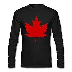 Canada Maple Leaf From Roundel Men Long Sleeve T Shirt Black