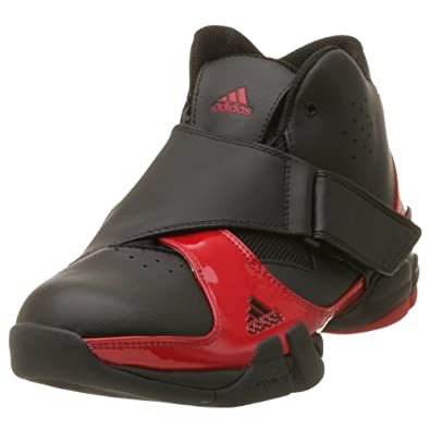 Amazon.com: adidas Men's Courtshark Mid Basketball Shoe,Black/Red