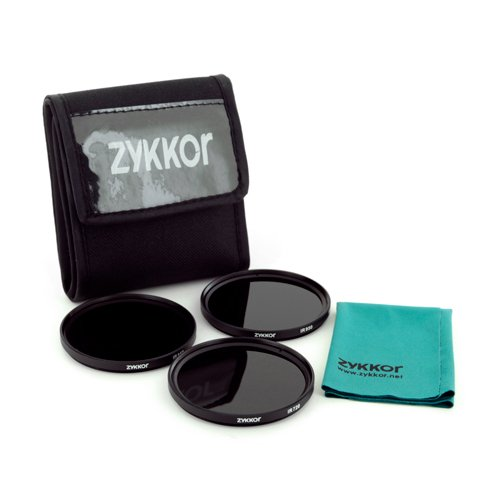 Zykkor IR 720nm 850nm 950nm Infrared Filters Kit, 52mm