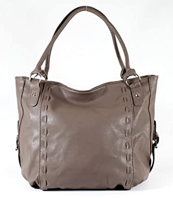HandBags&Accessories Designer Leather Style Gorgeous Large Tote Shoulder Hobo Handbag Quality Bag - Mocha
