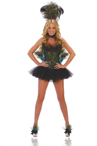 Starline Women's Sexy 5 Piece Deluxe Peacock Costume