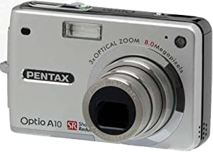 Pentax Optio A10 8MP Digital Camera with 3x Optical Zoom and Shake Reduction