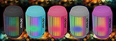 Bluetooth Speaker - Waloo Portable LED Light Show Bluetooth Speaker with AUX Input and Micro SD Slot