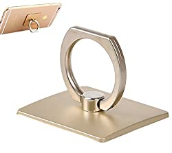 Neon Ring Stand Holder Mobile for Apple, iPhone, iPad Mini, Samsung HTC, Lenova, LG, Micromax, Xiaomi Redmi, Asus, Sony Xperia(Gold)