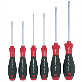 Wiha 36290 6-Piece Torx MagicSpring Screwdriver Set with Soft Finish Handles