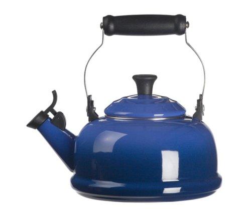 Le Creuset Enamel-on-Steel Whistling 1-4/5-Quart Teakettle, Cobalt