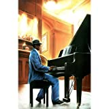 Jazz-Piano, Art Poster Print, 24 by 36-Inch