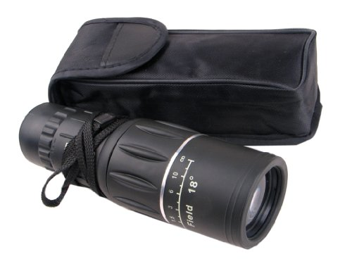 Nuoya001 New 16-36X52 Black Rubber Armor Astronomical Monocular Telescope Roof Prism