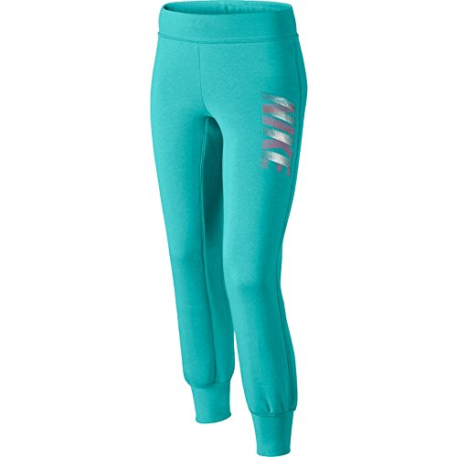 Nike Big Girls' (7-16) Graphic Glam Sweatpants-Turquoise-Small