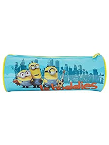 Minions Stuart Bob And Kevin Character Print Buddies Slogan Barrel Pencil Case
