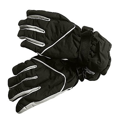 MM Men's Full Finger Black Cotton Skiing Gloves