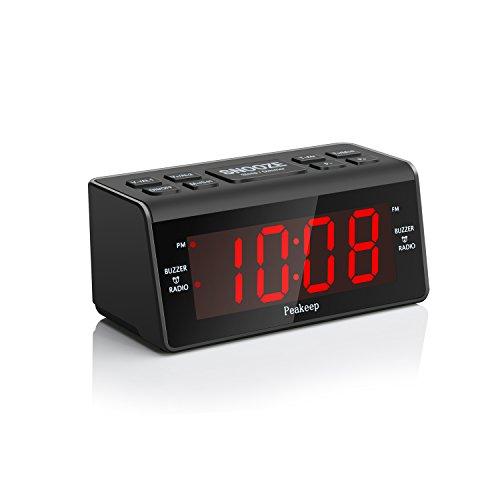 [Upgraded] Peakeep Little Digital FM Radio Dual Alarm Clock with Snooze and Sleep Timer, Large Display with 2 Dimmer (Dual Alarm Clock Large Display compare prices)